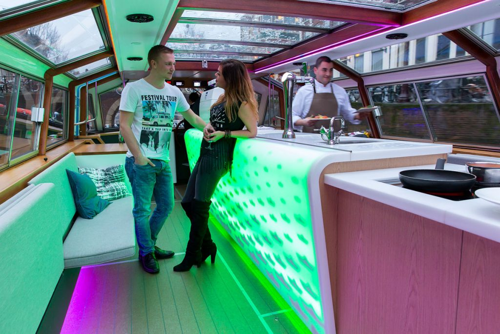 Canal boat hire Amsterdam Boat Tour - LIDO - Bar